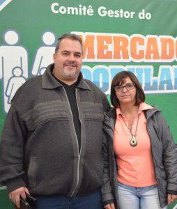 Marcão, secretário de Trabalho, Emprego e Economia Solidária, e Tânia Carvalho, pres. da Avamt, pedem a participação de todos que puderem contribuir com o gesto de solidariedade
